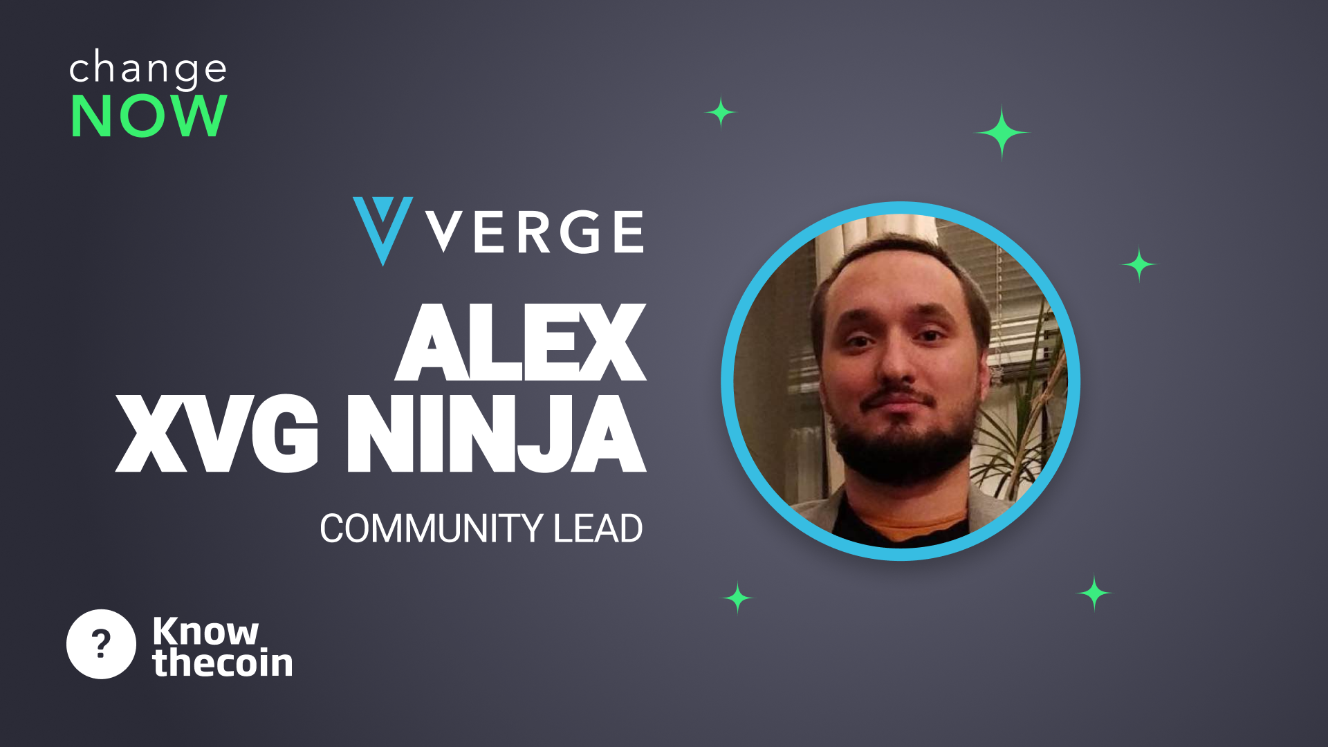 Know The Coin: Verge's Alex Ederer (aka XVG Ninja)