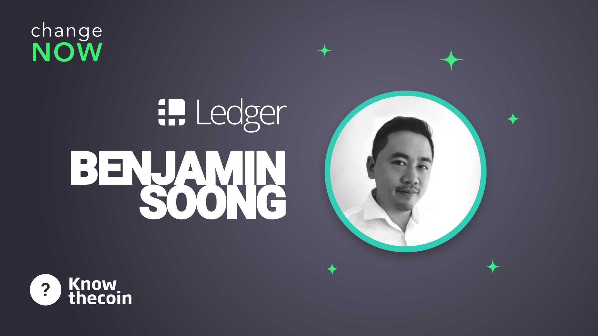 Know The Coin: Ledger's Benjamin Soong