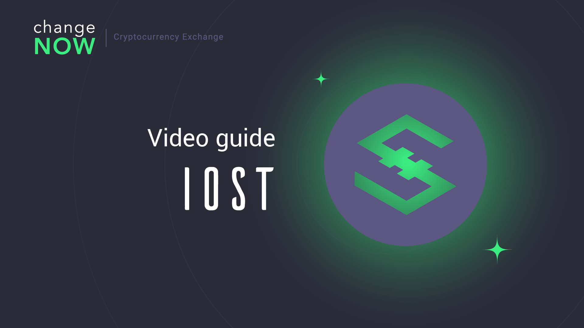 How To Exchange IOST on ChangeNOW io — Registration Free Crypto Exchange GUIDE