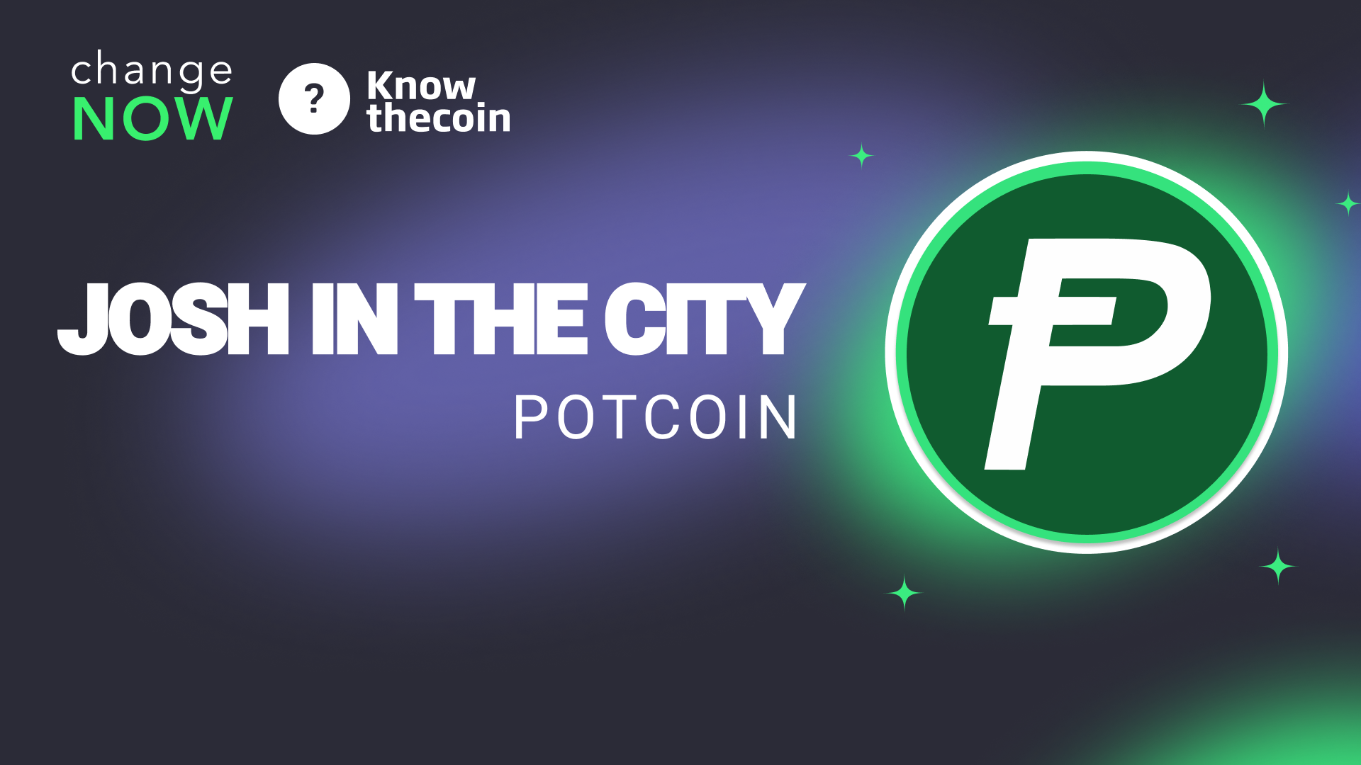Know The Coin: PotCoin's Community Lead Josh In The City