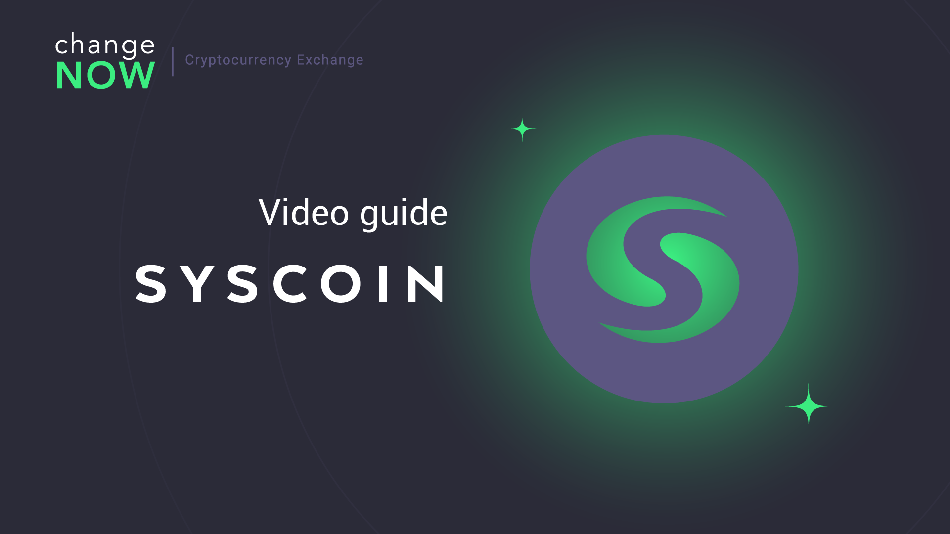 How To Buy Syscoin on ChangeNOW.io - Quick and Easy Swaps with More than 200 Cryptos [GUIDE]